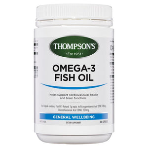 Thompsons Omega-3 Fish Oil Capsules 400