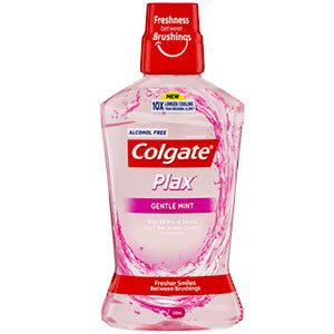 Colgate Plax Alcohol Free Gentle Mint Mouthwash 500mL
