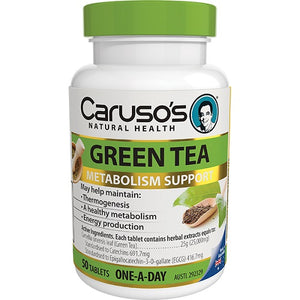 Carusos One a Day Green Tea 50 Tablets