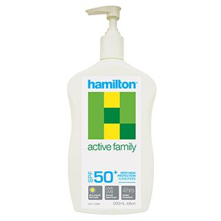 Hamilton Active Family Sunscreen Lotion SPF50+ 500mL