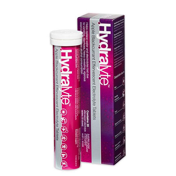 Hydralyte Effervescent Tablets 20 (Apple Blackcurrant)