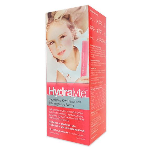 Hydralyte Ice Block 16 Pack (Strawberry Kiwi)