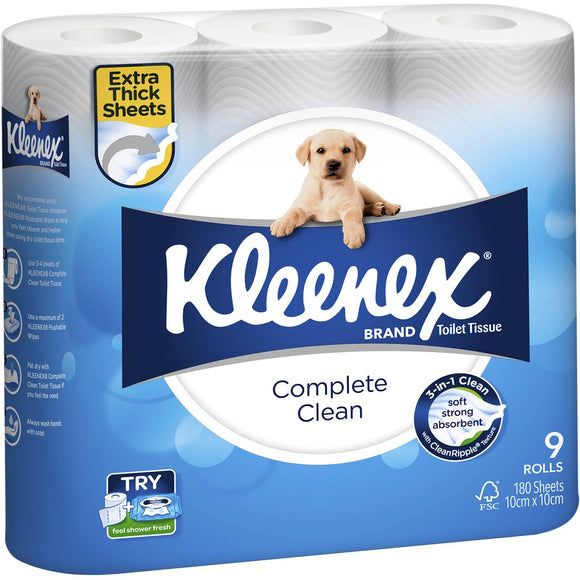 Kleenex Complete Care Toilet Paper 9 pack