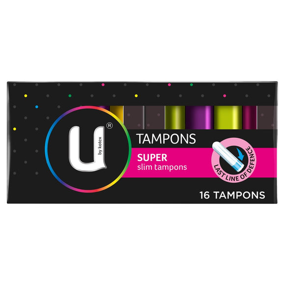 U by Kotex Tampons Super slim 16 tampons