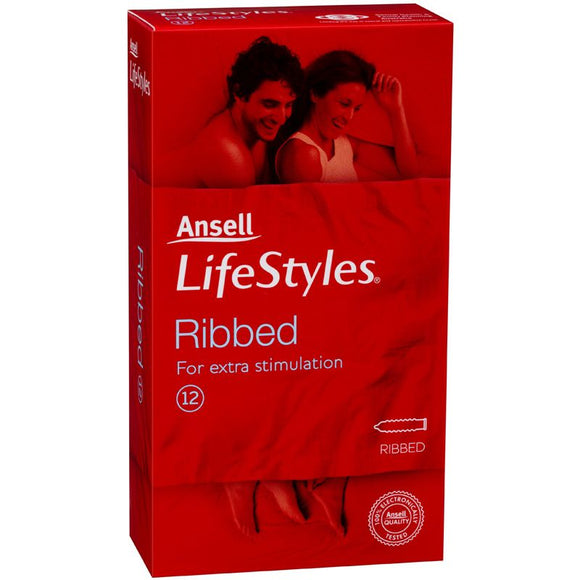 LifeStyles 12 Ribbed condoms