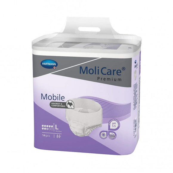 Molicare Premium Mobile Unisex (Large) level 8D 14 pieces