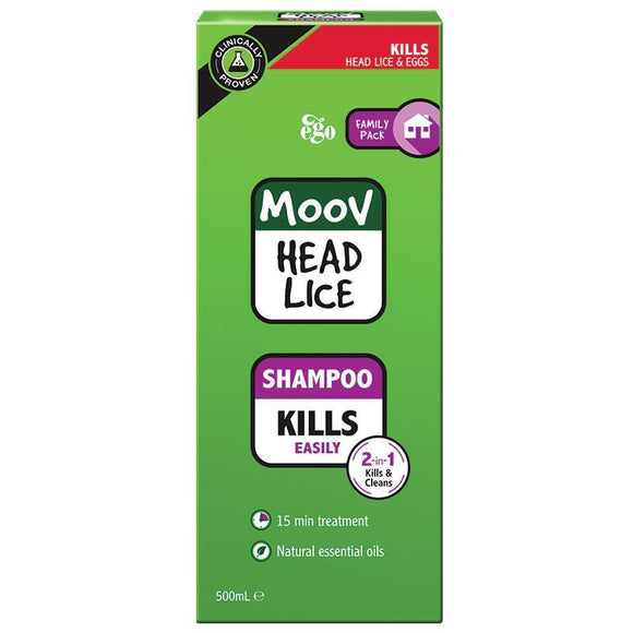 Ego Moov Head Lice Shampoo Value Pack 500mL