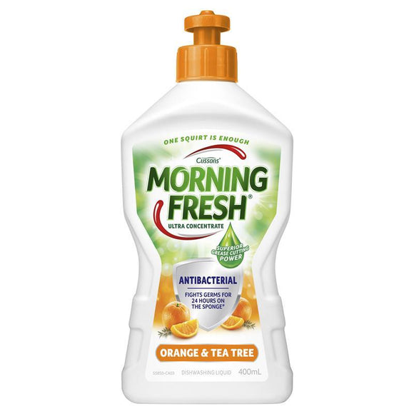 Morning Fresh Dish Washing Liquid (Antibacterial Orange + Tea Tree) 400mL