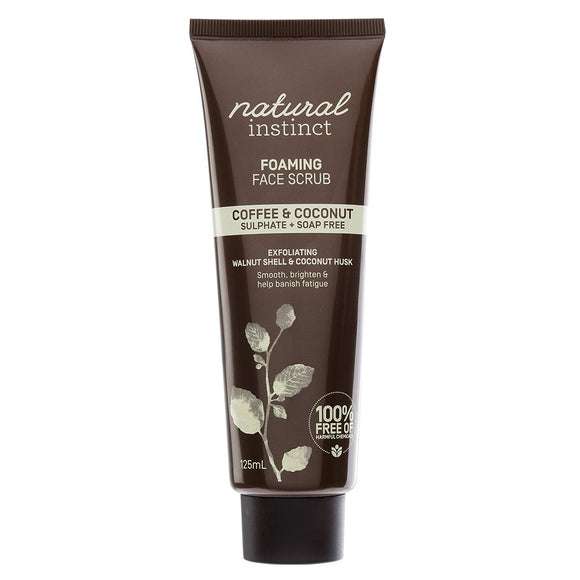 Natural Instinct Foaming Face Scrub 125mL
