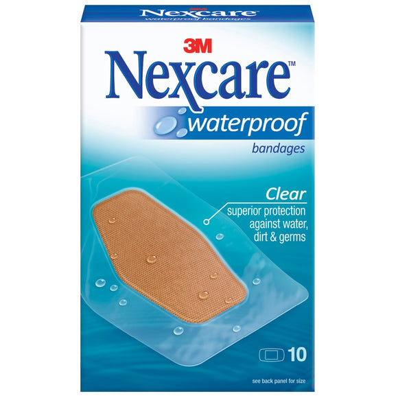 Nexcare Waterproof Strips Clear 10 strips