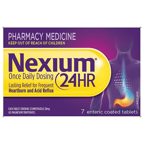 Nexium 24H Tablets 20mg 7 tablets