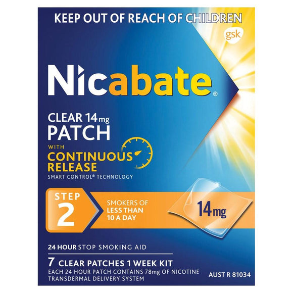 Nicabate Clear Patch 14mg 7 Patches step 2