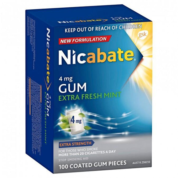 Nicabate 4mg Gum 100 pack