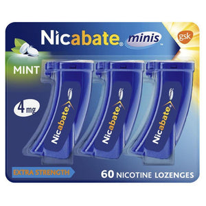Nicabate Mini's 4mg Lozenge 60 Pack