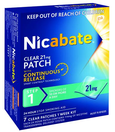 Nicabate Clear Patch 21mg 7 Patches Step 1