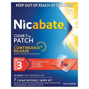 Nicabate Clear Patch 7mg 7 Patches
