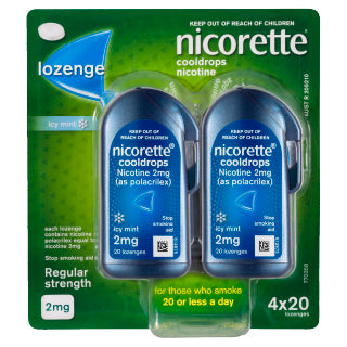 Nicorette Cool Drops 2mg (regular) 80 lozenges