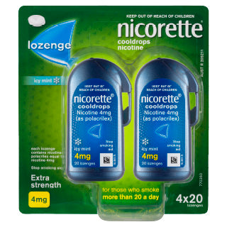 Nicorette Cool Drops 4mg (extra strength) 80 lozenges