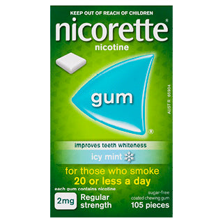 Nicorette Gum 2mg 105 pieces icy mint