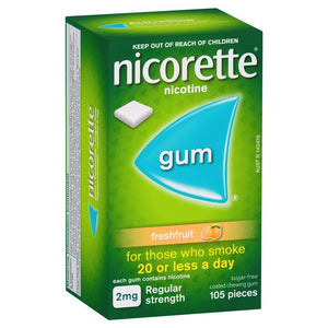 Nicorette Gum 2mg 105 pieces freshfruit