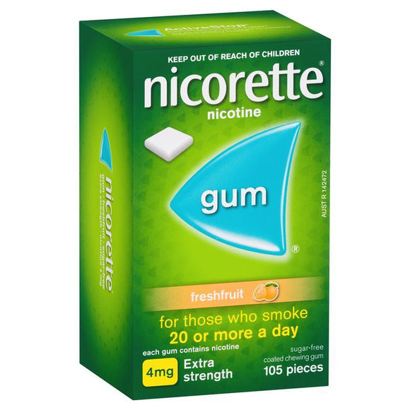 Nicorette Gum 4mg 105 pieces freshfruit