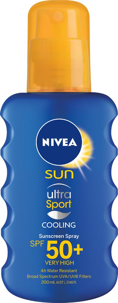 Nivea Ultra Sport Cooling Sunscreen Spray SPF50 200mL