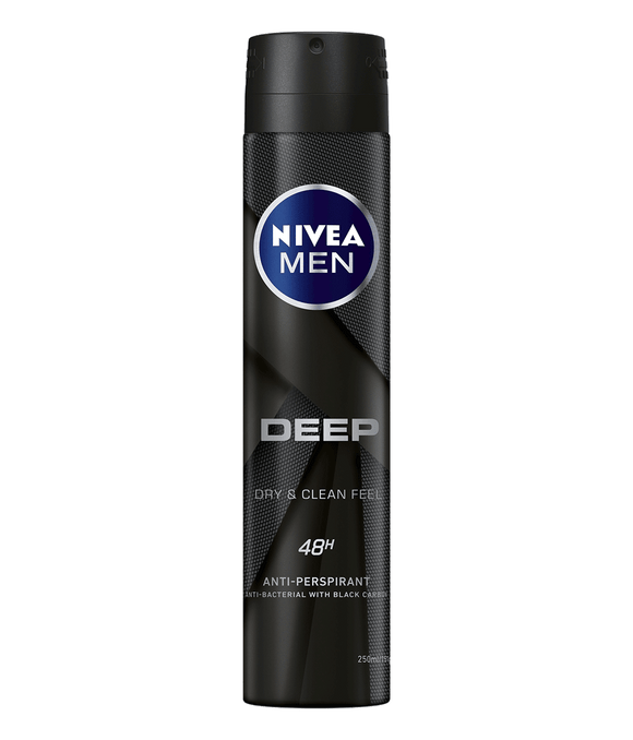 Nivea Men Deep Dry & Clean Anti Perspirant 250mL