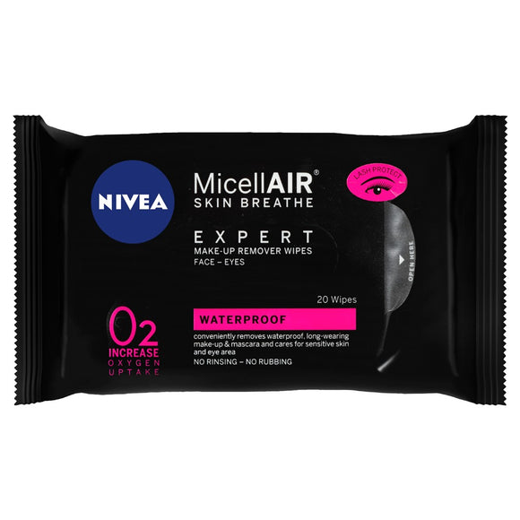 Nivea MicellAir Skin Breathe Waterproof wipes 20