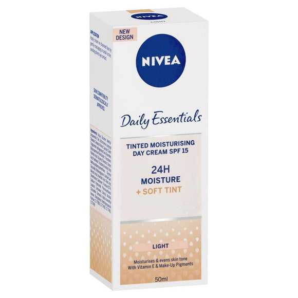 Nivea Daily Essentials Tinted Moisturising day Cream SPF15 (Light) 50mL