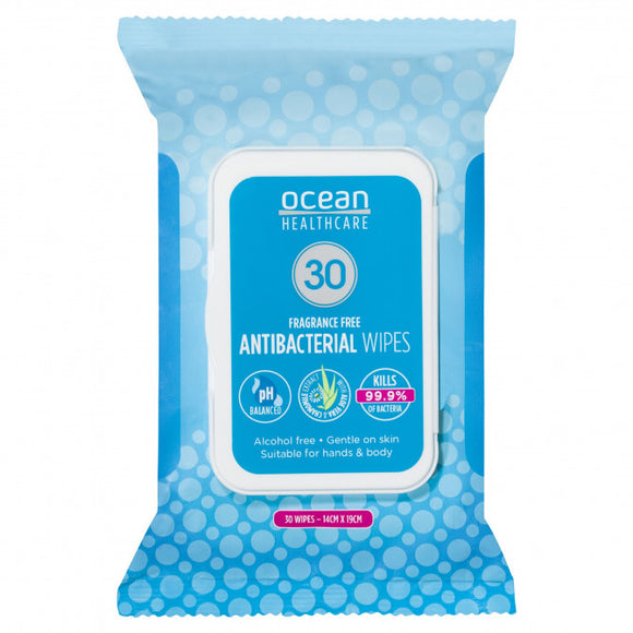 Ocean Healthcare Antibacterial Wipes 30