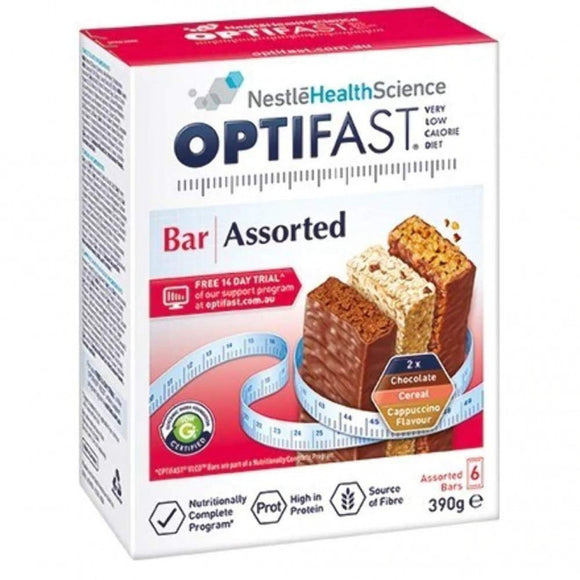 Optifast Bar 6 Assorted 400g