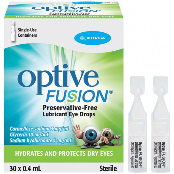 Optive Fusion Lubricant Eye Drops 0.4mL x30