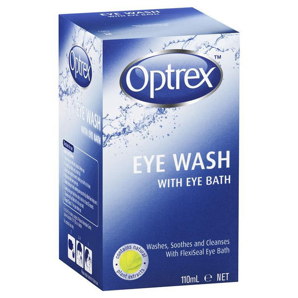 Optrex Eye Wash with eye bath container 110mL