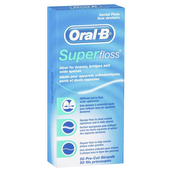 Oral B Superfloss Dental Floss 50 strands