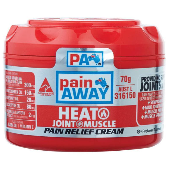 Pain Away Heat + Joint & Muscle Pain Relief Cream 70g