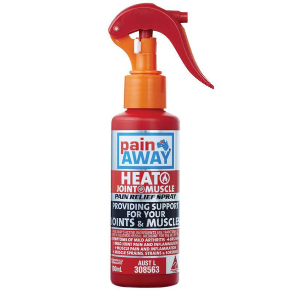 Pain Away Heat + Joint & Muscle Pain Relief Spray 100mL
