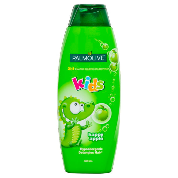 Palmolive 3-in-1 Kids Shampoo/Conditioner/Bodywash Happy Apple 350mL