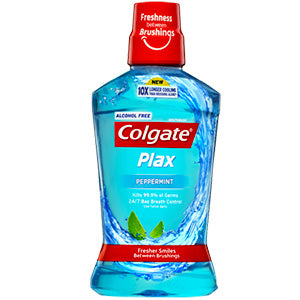 Colgate Plax Alcohol Free Peppermint Mouthwash 500mL