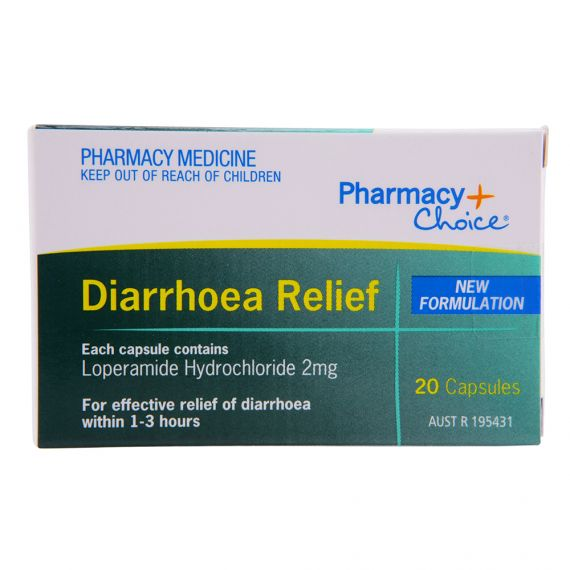 Pharmacy Choice Diarrhoea Relief 20 Capsules