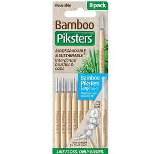 Piksters Interdental Bamboo Brushes (size 5) 8 Pack