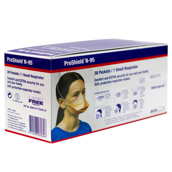 Proshield Protector N95 Face Masks pack of 30 (small) individually wrapped
