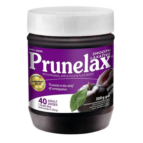 Prunelax Smooth Laxative Gel 40 capsules 300g