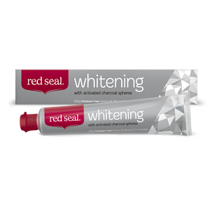 Red Seal Whitening Toothpaste with Activated Charcoal Spheres 100g
