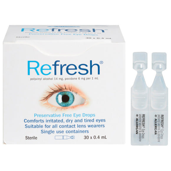 Refresh Preservative Free Eye Drops 30 x 0.4mL