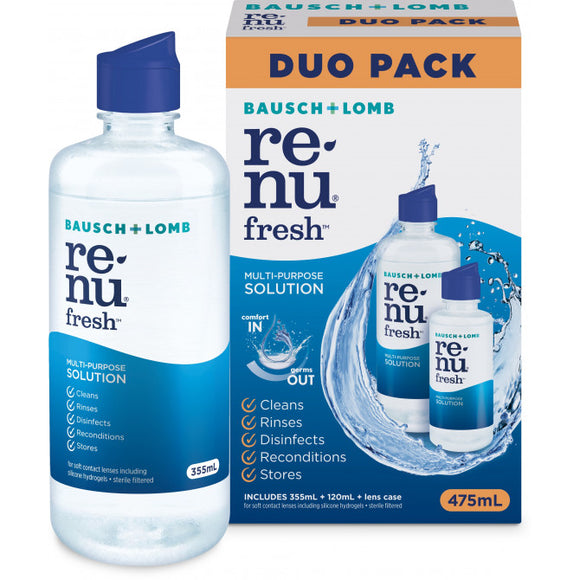 Renu Fresh Multi-Purpose Solution Duo Pack 475mL