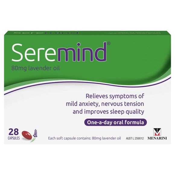 Seremind Lavender Oil 80mg 28 Capsules