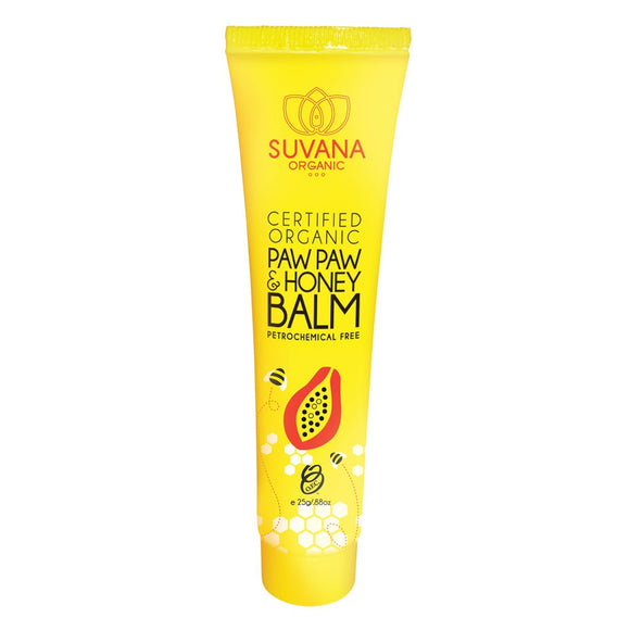 Suvana Organic Paw Paw and Honey Balm 25g