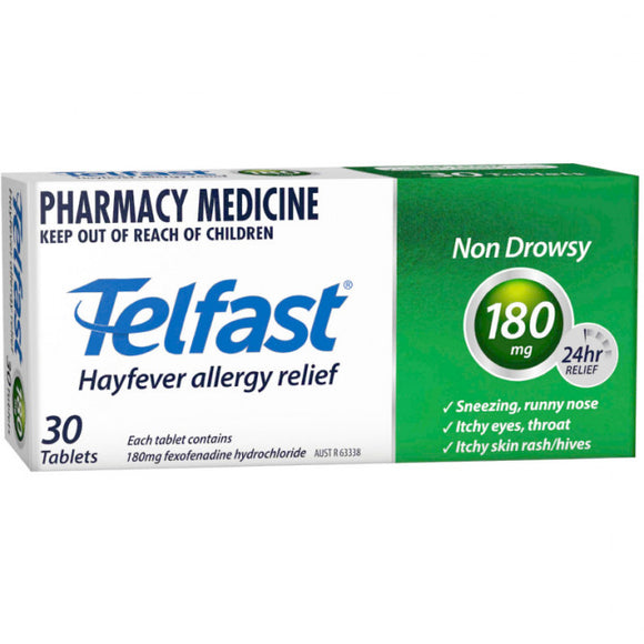 Telfast Hayfever & Allergy Relief 30 Tablets 180mg