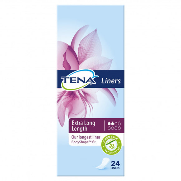 Tena Liners Extra Long Length 24 liners