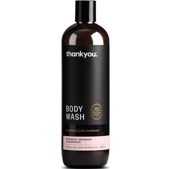 Thankyou Botanical Geranium & Rosewood Body Wash 500ml